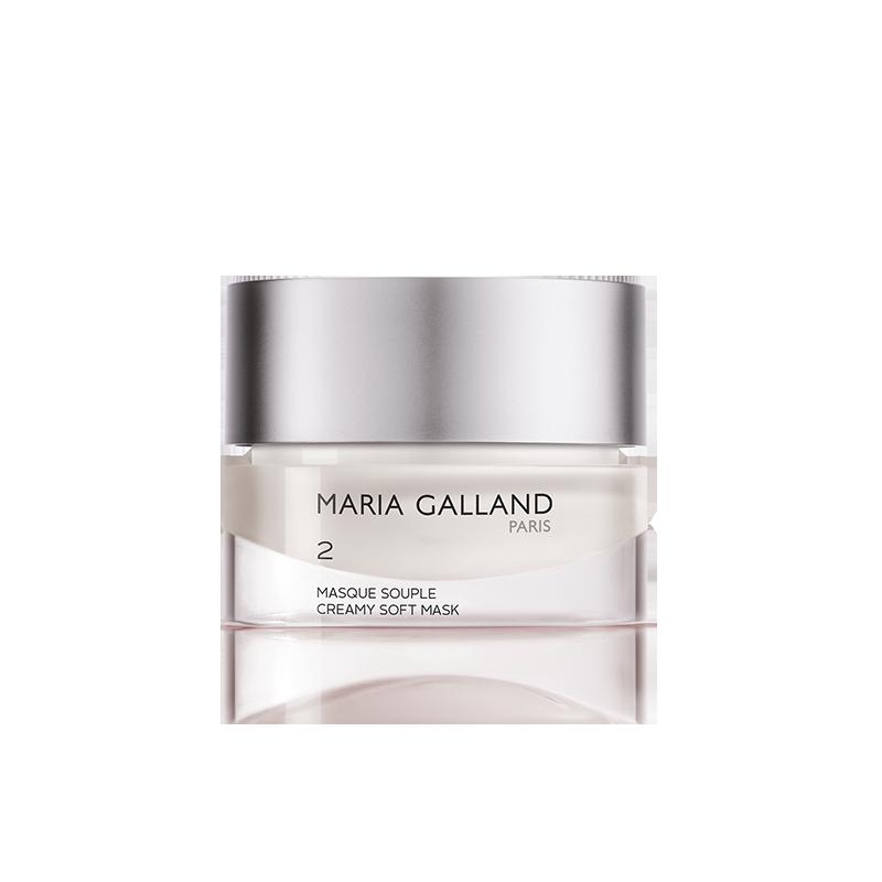 Pour les soins de votre visage, Produits Maria Galland 2 masque souple disponible chez votre esthéticienne Fan Beauté.