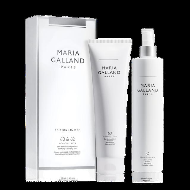Produits de la ligne Maria Galland pour le démaquillage. Duo avec les produits 60 et 62 disponible chez Fan Beauté