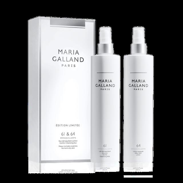 Produits de la ligne Maria Galland pour le démaquillage. Duo avec les produits 61 et 64 disponible chez Fan Beauté