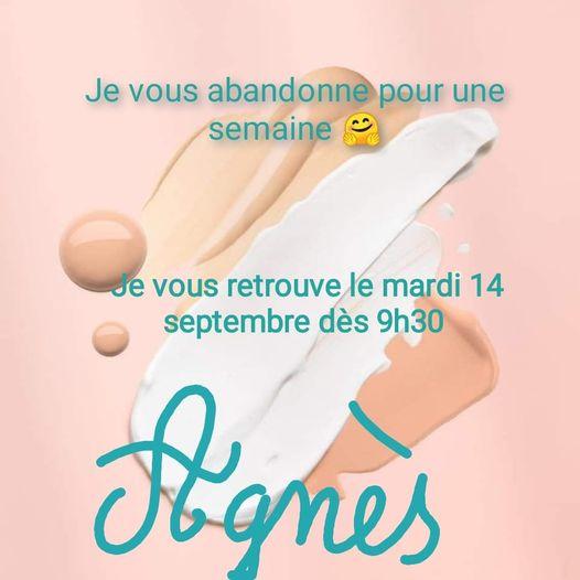 congé septembre 2021 Fan Beauté Fontenilles